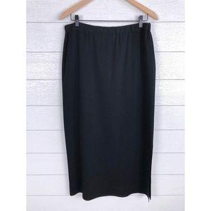 MING WANG Midi Pencil Straight Skirt Side Slit